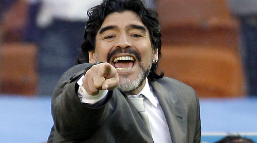 """Maradona le puso este titular al partido: """"Argentina fue implacable"""""""