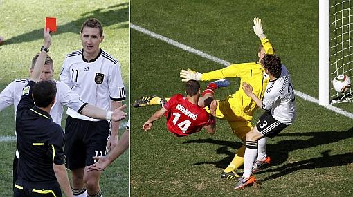 Sorpresa en Sudáfrica: Serbia venció 1-0 a Alemania y Klose fue expulsado