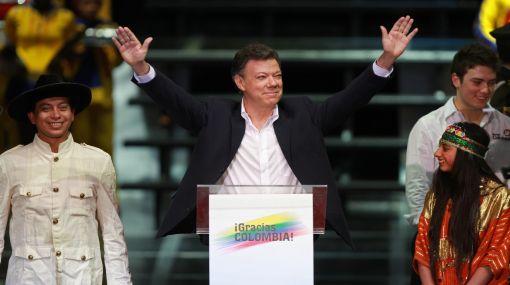 """Santos en su primer discurso como presidente electo: """"A las FARC se les agotó su tiempo"""""""