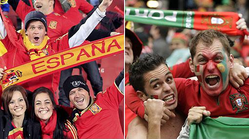 Reporte desde Sudáfrica: Portugal y España se reconciliaron con sus hinchadas