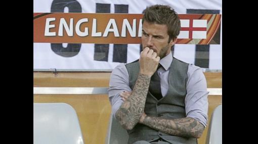 FOTOS: la angustia de Beckham antes de la clasificación de Inglaterra