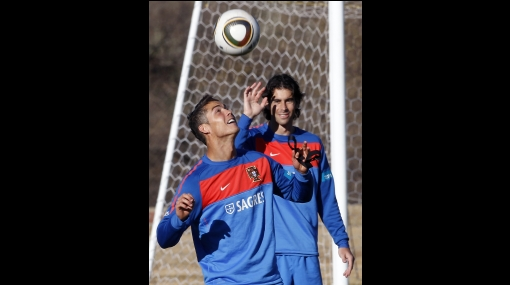 FOTOS: Cristiano Ronaldo afina la puntería para enfrentar a Brasil