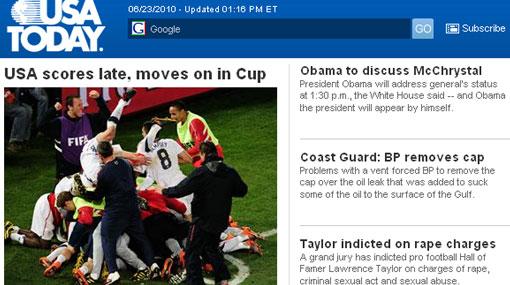 'Rey' por un día: la selección de 'soccer' es noticia en la prensa de EE.UU.