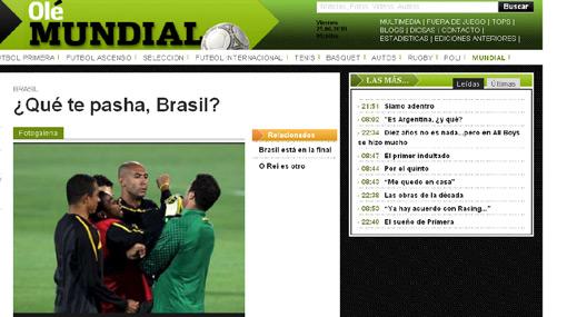 ¿Bronca en Brasil o invento argentino?