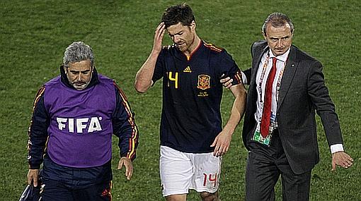 Xabi Alonso es la duda en España para el choque del martes contra Portugal