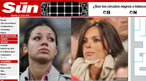 FOTOS: las esposas de los futbolistas ingleses tristes por la goleada