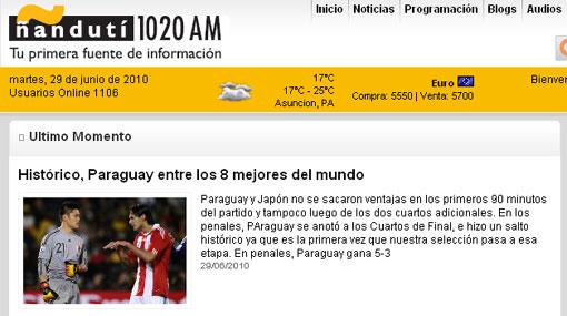 "Prensa paraguaya orgullosa: ""Albirroja hace historia ante Japón"""