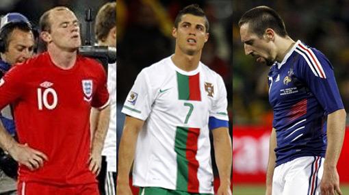 Rooney, Cristiano y Ribery son los fiascos del Mundial