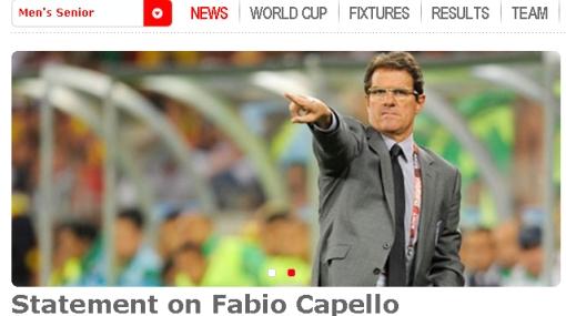Fabio Capello fue ratificado como entrenador de Inglaterra a pesar del fracaso