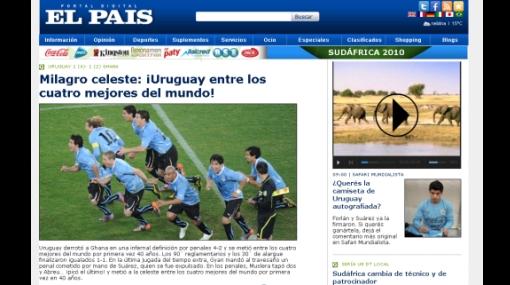 """Prensa 'charrúa' celebra la clasificación: """"El pueblo uruguayo está loco por culpa de Abreu"""""""