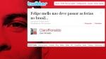 """Ronaldo no disculpa a Felipe Melo: """"No debe pasar las vacaciones en Brasil"""" - Noticias de corinthians"""
