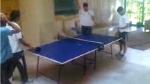 Uruguayos esperan el partido contra Holanda jugando tenis de mesa - Noticias de diego gonzalez