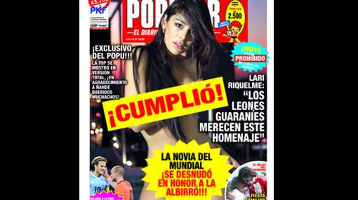 Larissa Riquelme ahora sí cumplió su promesa y se desnudó para todo el mundo