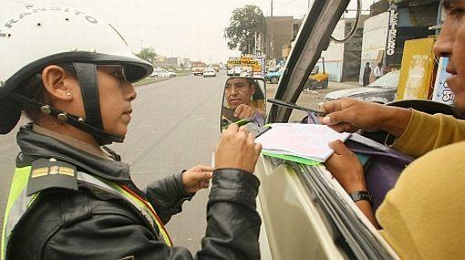 Policía no puede cotejar las revisiones técnicas porque el MTC aún no implementa base de datos