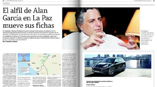 Rodríguez Cuadros negó que sea víctima de seguimiento por el consulado chileno en La Paz