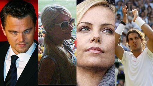 Leonardo di Caprio, Paris Hilton, Charlize Theron y Rafael Nadal, presentes en la final del Mundial