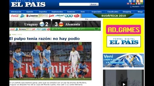 """Prensa uruguaya tras perder contra Alemania:""""El pulpo tenía razón, no hay podio"""""""
