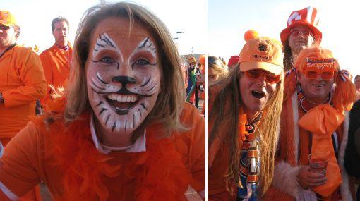 Holanda jugará de local: el Soccer City se vistió de naranja para la final del Mundial