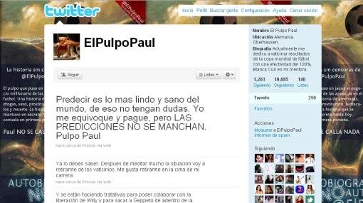 Iker Casillas y el pulpo Paul son los más mencionados en Twitter