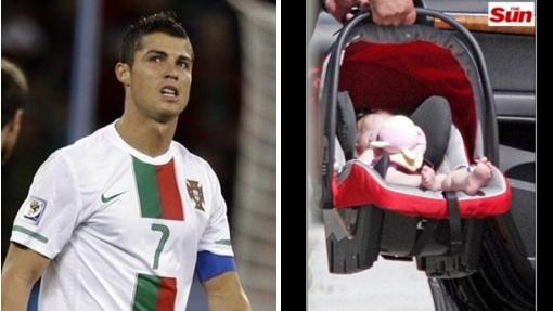 Vea la primera foto del bebe de Cristiano Ronaldo