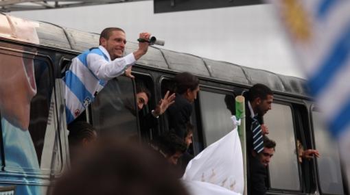 FOTOS: vea el inolvidable día que vivieron los seleccionados uruguayos