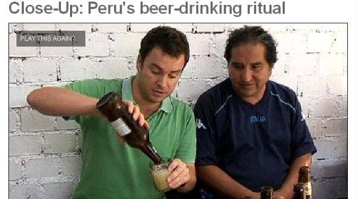 La tradición del 'full vaso' peruano vista por la BBC