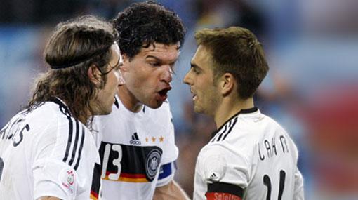 """Michael Ballack a Philipp Lahm: """"Yo sigo siendo el capitán de Alemania"""""""