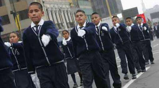Ministerio de Educación propone que los desfiles escolares no sean militarizados