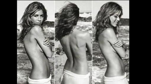 Jennifer Aniston hizo 'topless' para promocionar su perfume