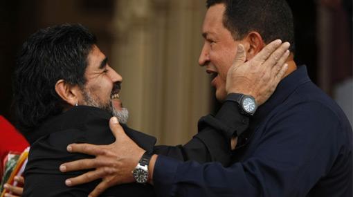 Maradona se metió en los líos políticos entre Colombia y Venezuela
