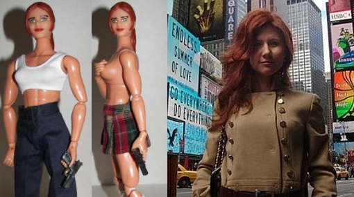 Guapa espía rusa Anna Chapman ya tiene su propia muñeca