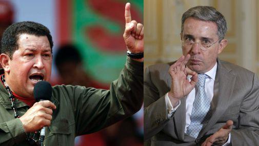 """Hugo Chávez acusó a Álvaro Uribe de emprender una """"locura guerrerista"""" contra Venezuela"""