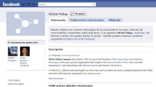 Vladimiro Montesinos y Víctor Polay usan Facebook para difundir sus ideas