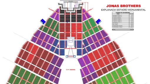 Jonas Brothers en Lima: vea el plano con las zonas del concierto