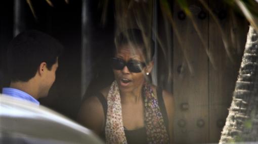 FOTOS: Michelle Obama y su hija Sasha disfrutaron del mar en España