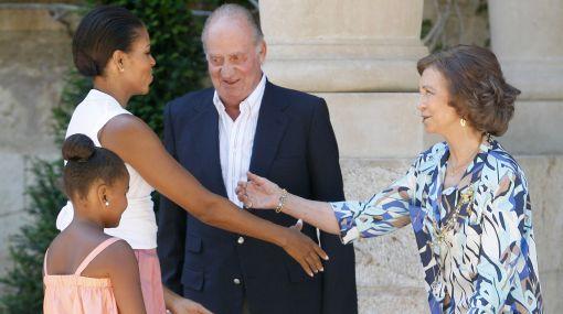 Michelle Obama se reunió con los reyes de España en Mallorca