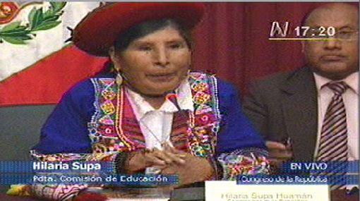 Hilaria Supa declaró instalada la Comisión de Educación del Congreso