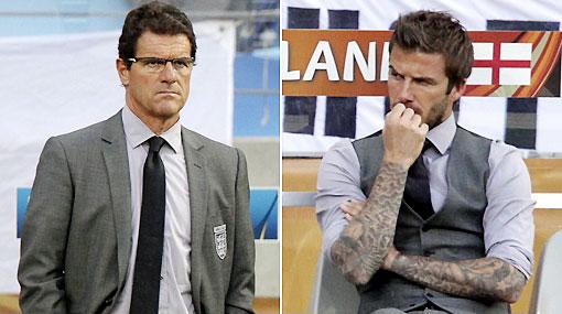 Capello le abrió una ventana en la selección a David Beckham