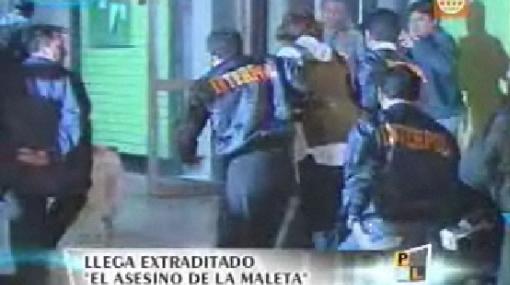 """El """"Asesino de la maleta"""" llegó a Lima y deberá responder por la muerte de su joven esposa peruana"""