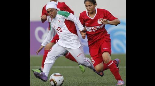 FOTOS: los uniformes de las futbolistas iraníes en los JJ.OO. de la Juventud