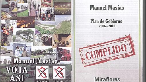 Alcalde Manuel Masías fue denunciado por mal uso de publicidad política