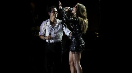 Jennifer López acompañó a Marc Anthony en su concierto en México