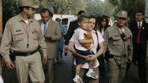 Fernando Lugo se sometió a la primera prueba de paternidad