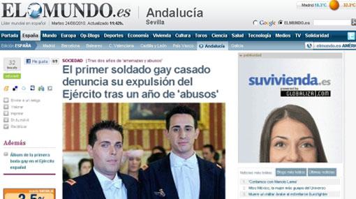 Primer soldado gay casado denunció que fue expulsado del ejército español