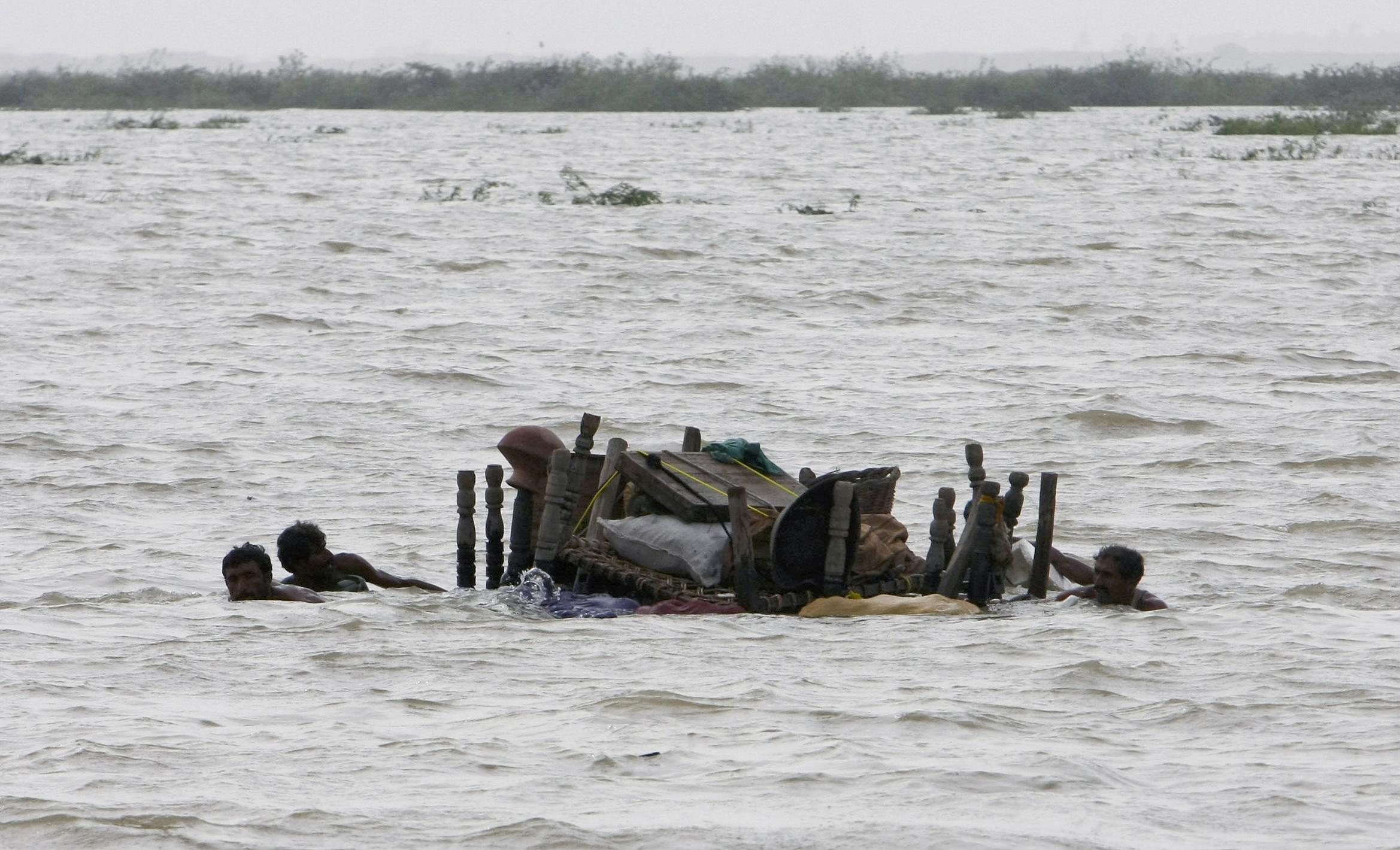 Área inundada en Pakistán se ha convertido en el mayor lago de agua dulce del mundo