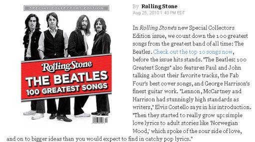 """""""A Day in the life"""" es la mejor canción de Los Beatles, según la revista Rolling Stone"""