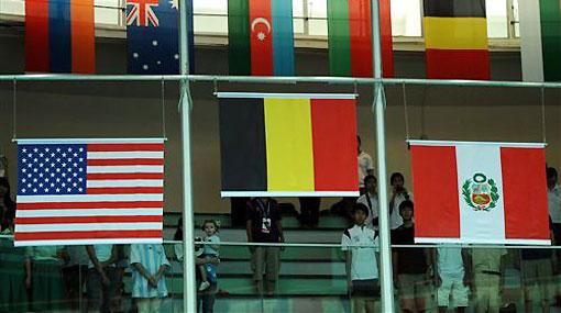 FOTOS: la selección peruana de vóley recibió la medalla de bronce en Singapur