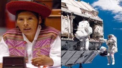 Congresista Hilaria Supa envió mensaje en quechua al espacio desde Machu Picchu