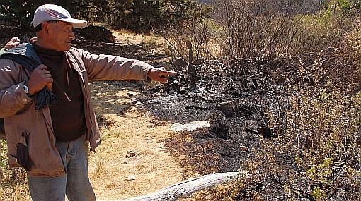 Denuncian a presunto autor de incendio registrado en La Libertad