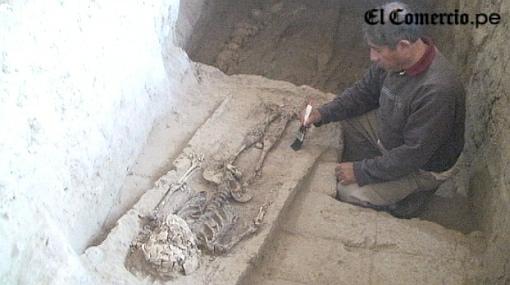 VIDEO: hallan restos de familia real Sipán en Huaca Rajada